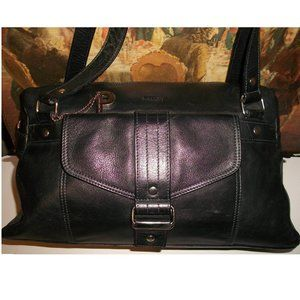 Picard Germany Classic Black Leather Shoulder Tote